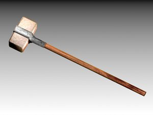 bronze hammer 3d obj