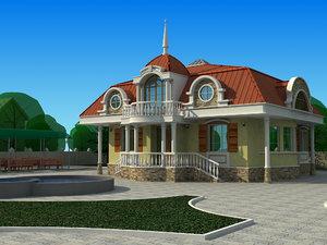 good house 3d max