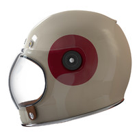 3d model vintage motorcycle helmet