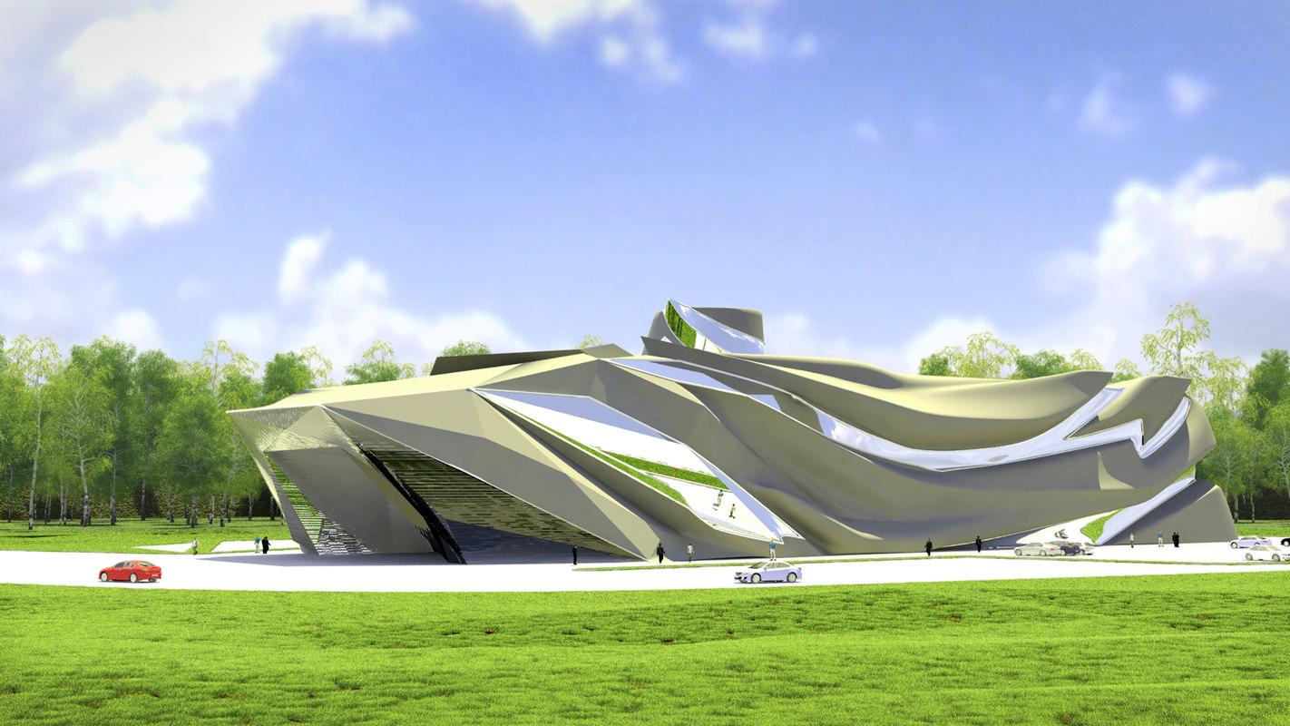 concept industrial building 3d model