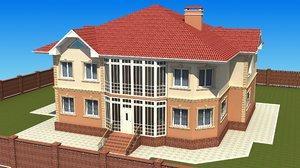 2 storei cottage 3d model