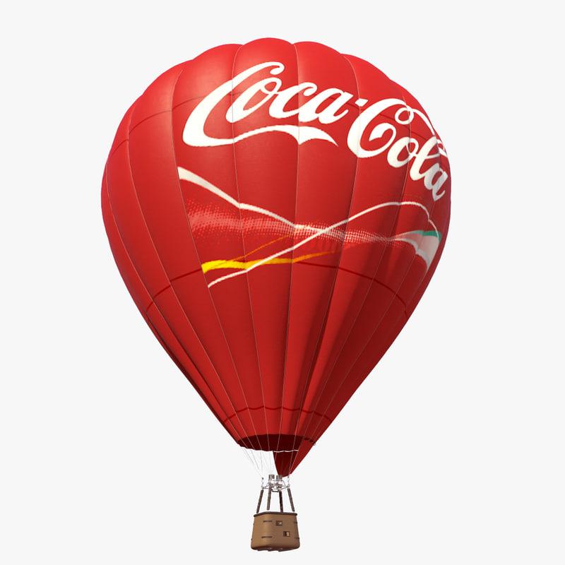 air baloon coca cola 3d model