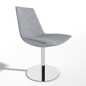3d chair eiffel swivel dinning model