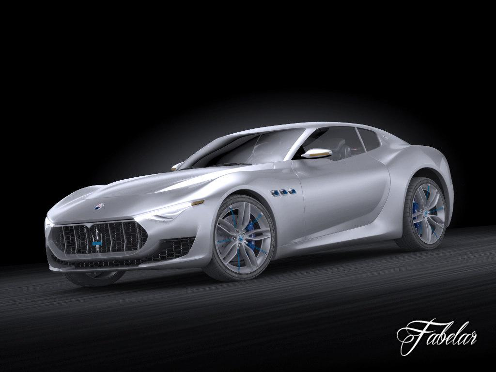 3d model maserati alfieri concept vehicle