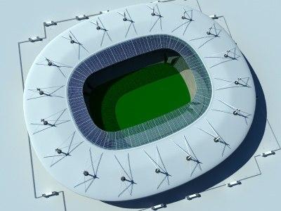 stade france stadium c4d