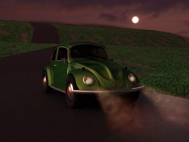 old beetle 3d model