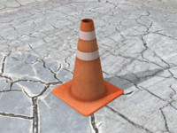 traffic cone 3ds