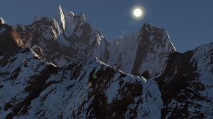 3ds snow mountain