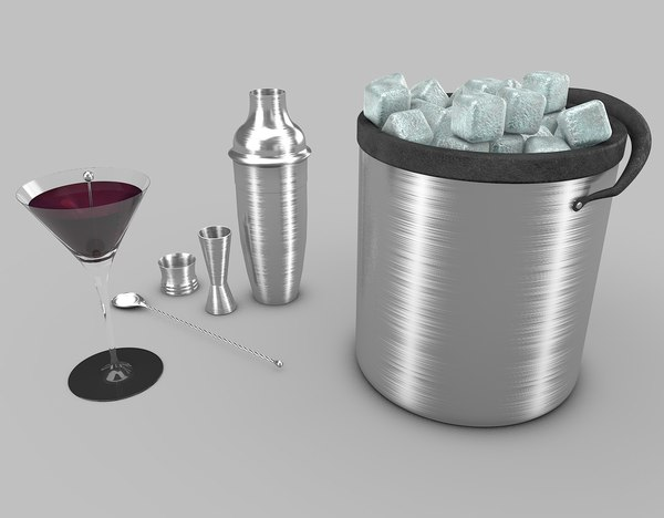 cocktail shaker 3d 3ds
