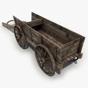 3d medieval cart