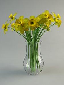 maya narcissus vase