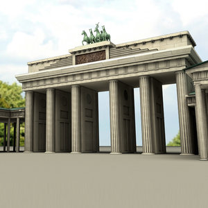 berlin brandenburger tor gate 3d max