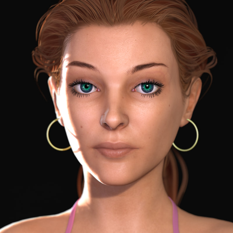 3d athena young woman model