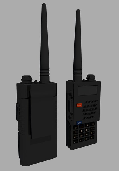 3d walkie-talkie radio 2 model
