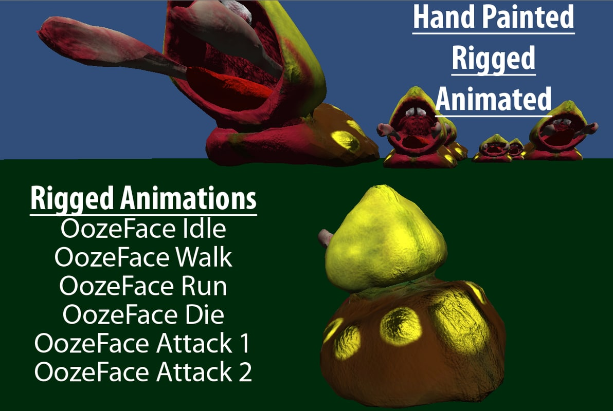 3d attack die animations model