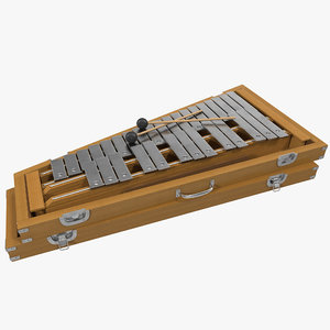 xylophone music instrument 3d model
