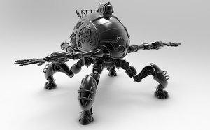 3d leg machine robot