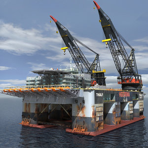 3d model dual crane vessel format