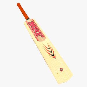 3d model bat mrf wooden cricket
