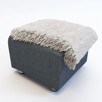 Ikea Klippan Footstool and warm wrap