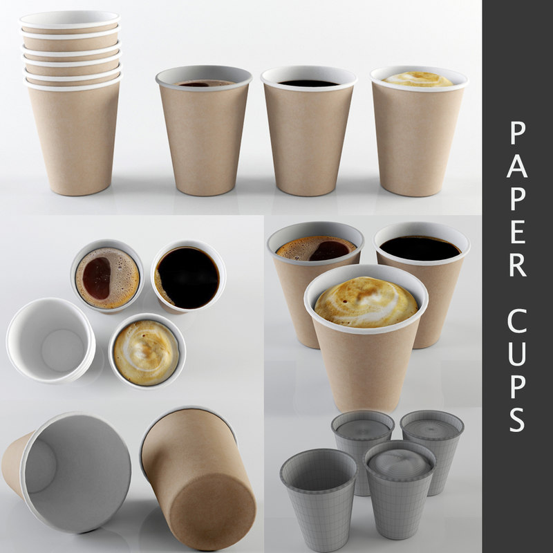 3d model paper cups