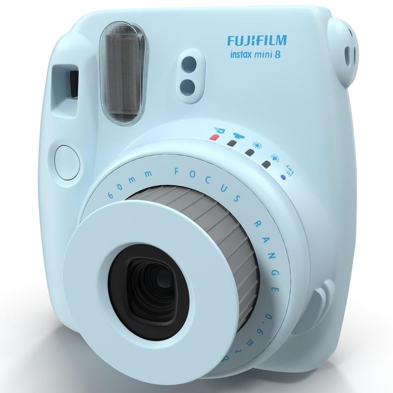 3d fujifilm instax mini 8 model