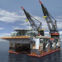 Oil Rig Dual Crane_Vessel (Multi format)
