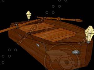 free blend model boat cartoon