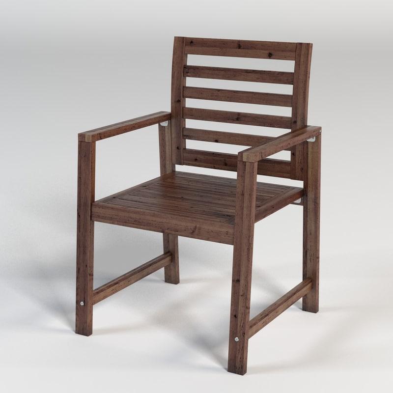 ikea applaro chair 3d max