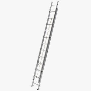 aluminum extension ladder 3d model