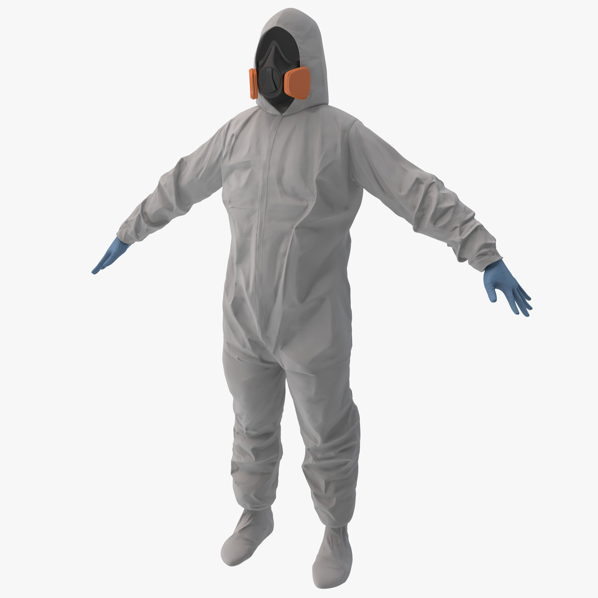 hazmat worker clothes c4d
