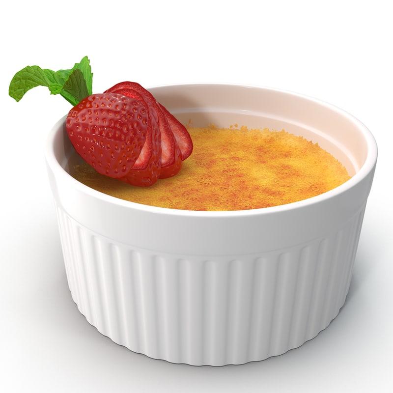 3d crème brûlée