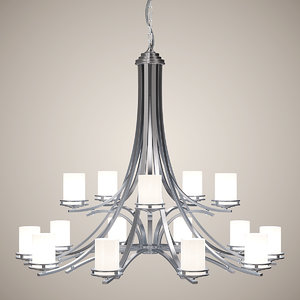 3d chandelier lights model