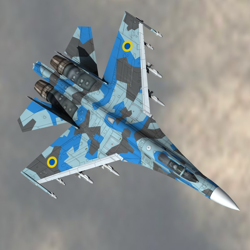 3d model of su27 air force