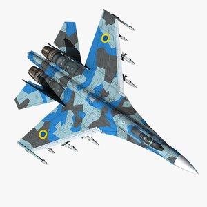 3d model of su27 air force