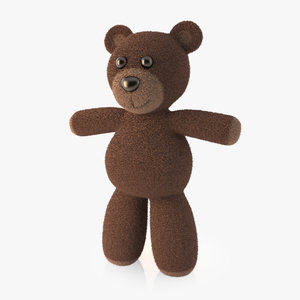 3ds max teddy bear rigged