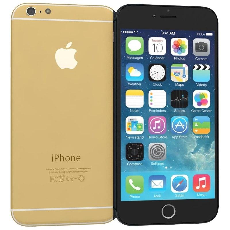 apple iphone 6 black 3d c4d