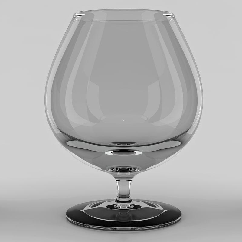 snifter glass 3d model