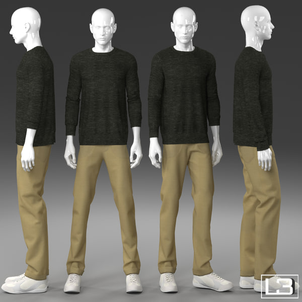 3d model man mannequin