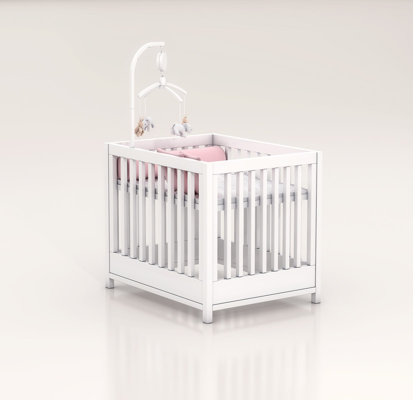 baby bed 3d max