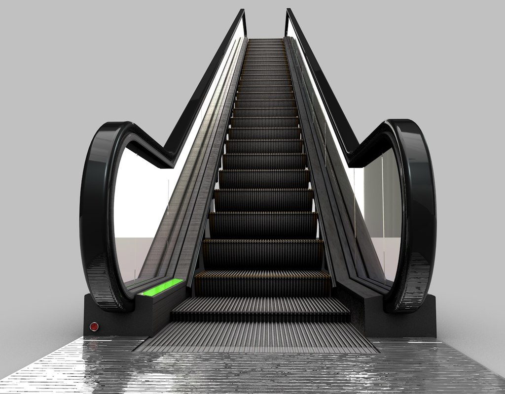 3d model of escalator