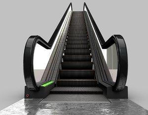 3d model of escalator