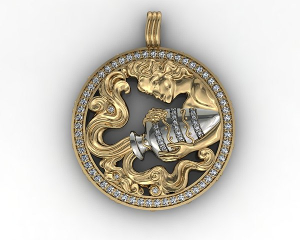 beauty pendant 3d model