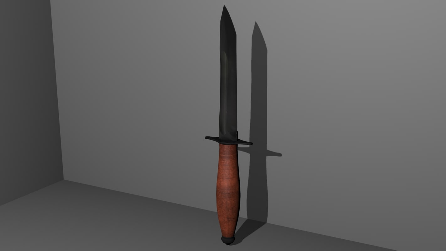 free dv-2 russian combat knife 3d model