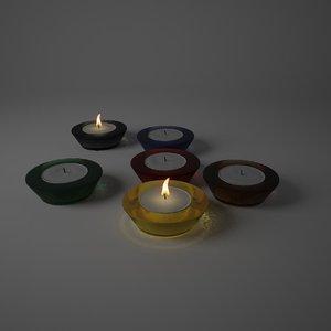 3d candleglass v-ray renders model