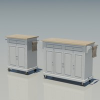 3d kitchen cabinet island