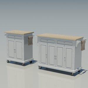 3d kitchen cabinet island