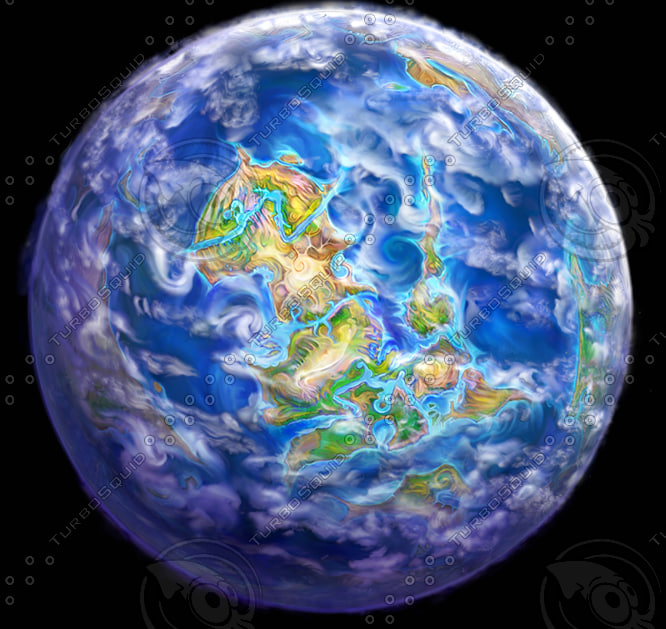 3d planet fantasy earth