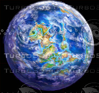 3d planet fantasy earth