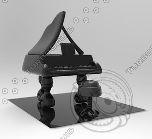 piano toy 3d max